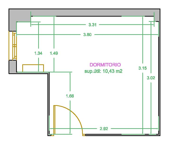 Dise o de planos for Muebles a escala 1 50 para planos